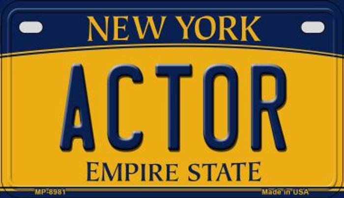 Actor New York Novelty Metal Motorcycle Plate MP-8981