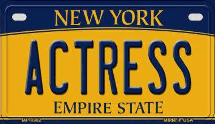 Actress New York Novelty Metal Motorcycle Plate MP-8982
