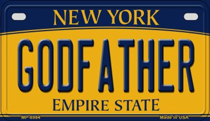 Godfather New York Novelty Metal Motorcycle Plate MP-8984