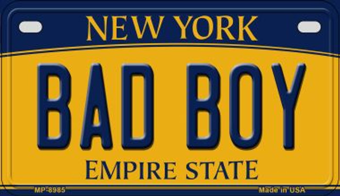 Bad Boy New York Novelty Metal Motorcycle Plate MP-8985