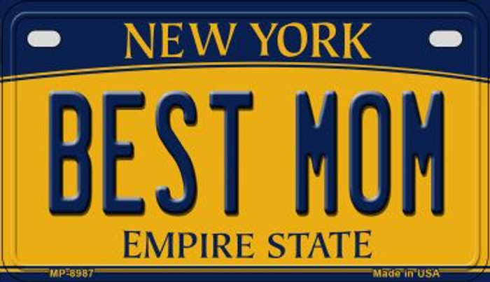 Best Mom New York Novelty Metal Motorcycle Plate MP-8987