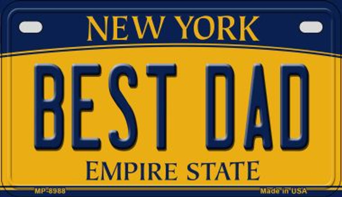 Best Dad New York Novelty Metal Motorcycle Plate MP-8988