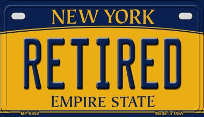 Retired New York Novelty Metal Motorcycle Plate MP-8992