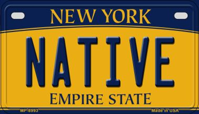 Native New York Novelty Metal Motorcycle Plate MP-8993