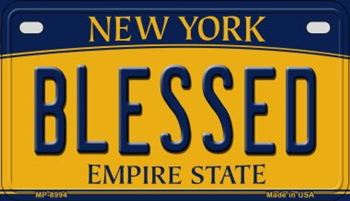 Blessed New York Novelty Metal Motorcycle Plate MP-8994