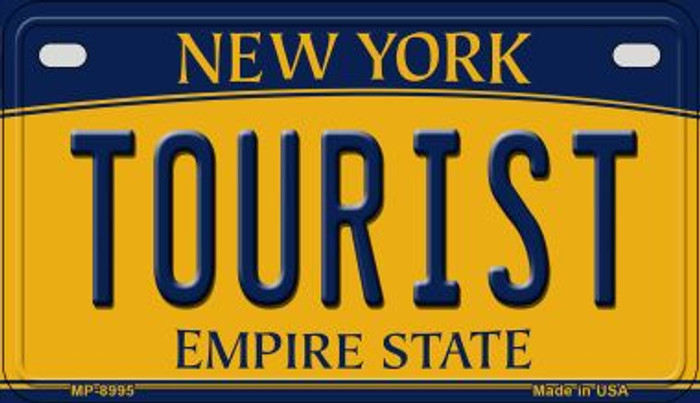 Tourist New York Novelty Metal Motorcycle Plate MP-8995