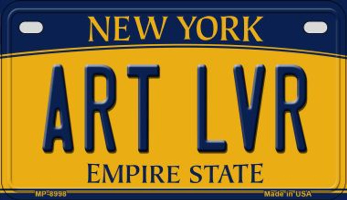 Art LVR New York Novelty Metal Motorcycle Plate MP-8998