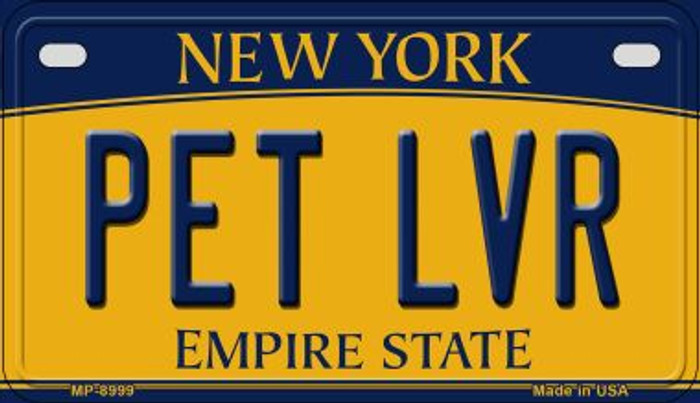 Pet LVR New York Novelty Metal Motorcycle Plate MP-8999