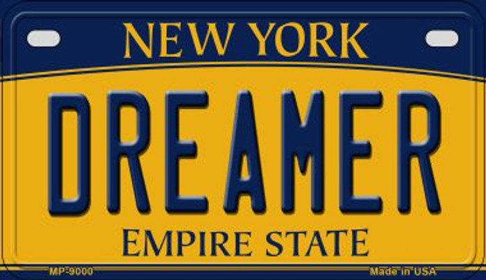 Dreamer New York Novelty Metal Motorcycle Plate MP-9000