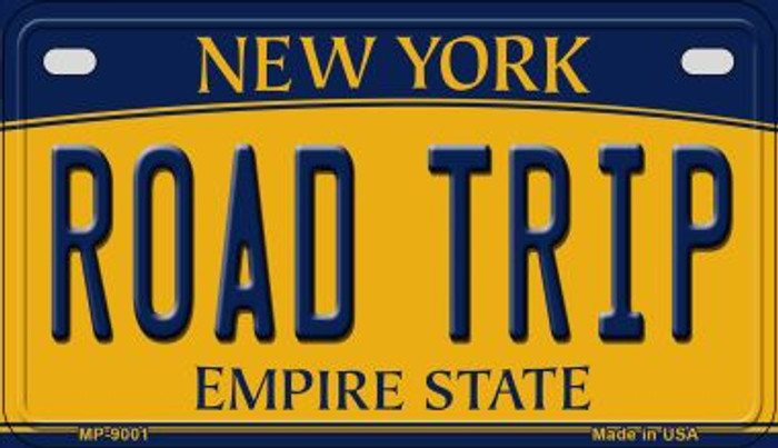 Road Trip New York Novelty Metal Motorcycle Plate MP-9001
