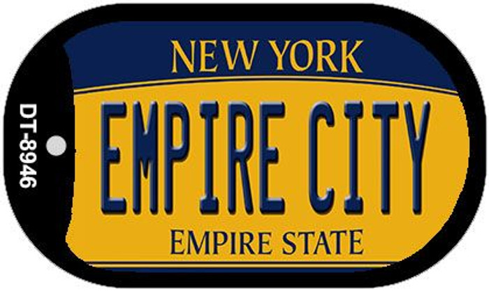 Empire City New York Novelty Metal Dog Tag Necklace DT-8946