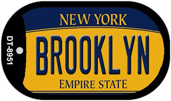 Brooklyn New York Novelty Metal Dog Tag Necklace DT-8951