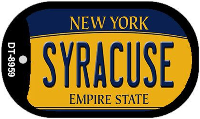 Syracuse New York Novelty Metal Dog Tag Necklace DT-8959