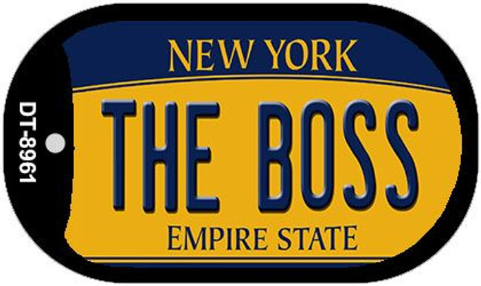The Boss New York Novelty Metal Dog Tag Necklace DT-8961