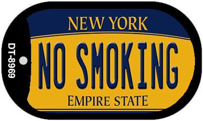 No Smoking New York Novelty Metal Dog Tag Necklace DT-8969