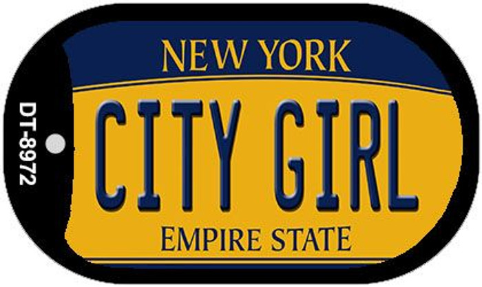 City Girl New York Novelty Metal Dog Tag Necklace DT-8972