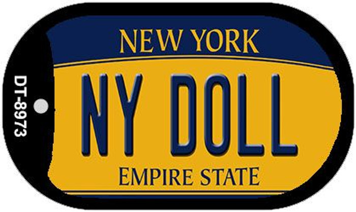 NY Doll New York Novelty Metal Dog Tag Necklace DT-8973