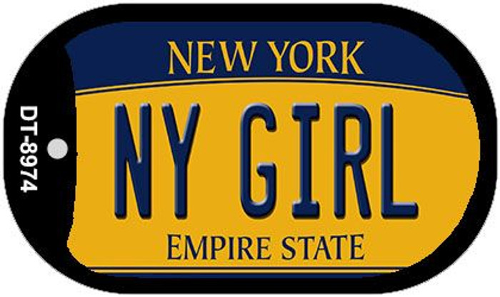 NY Girl New York Novelty Metal Dog Tag Necklace DT-8974