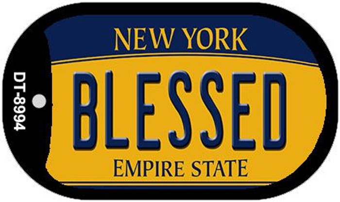 Blessed New York Novelty Metal Dog Tag Necklace DT-8994