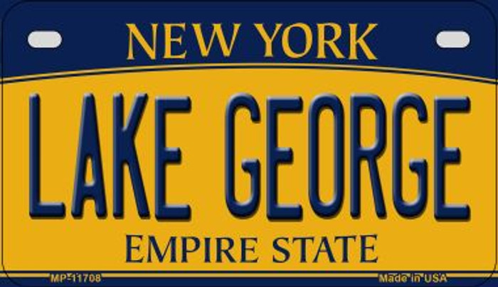 Lake George New York Novelty Metal Motorcycle Plate MP-11708