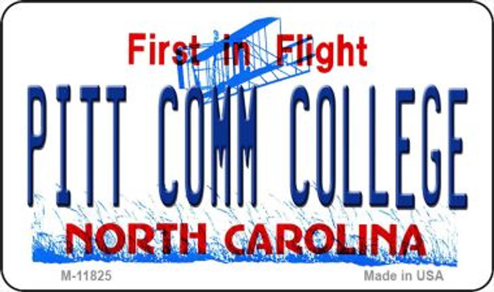 Pitt Comm College North Carolina Novelty Metal Magnet M-11825