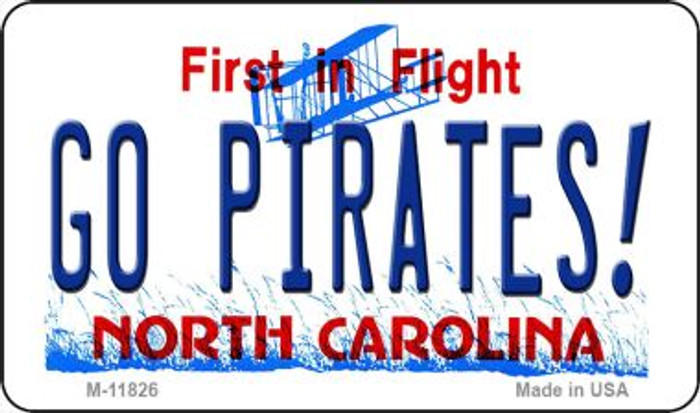 Go Pirates North Carolina Novelty Metal Magnet M-11826