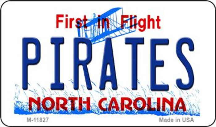 Pirates North Carolina Novelty Metal Magnet M-11827