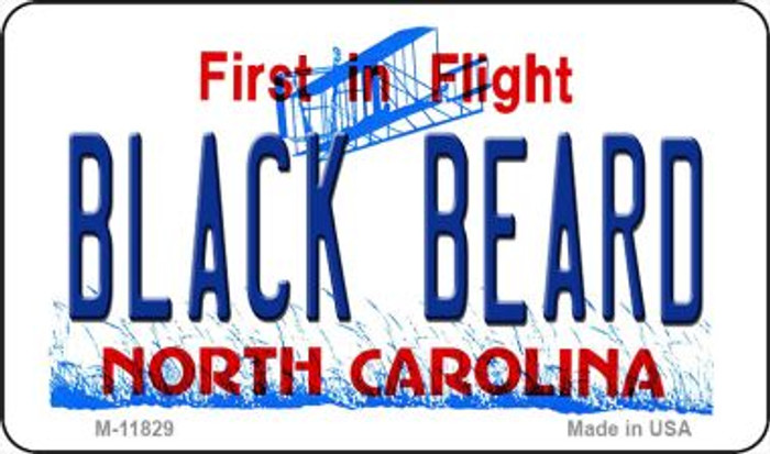 Black Beard North Carolina Novelty Metal Magnet M-11829