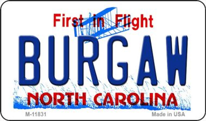 Burgaw North Carolina Novelty Metal Magnet M-11831