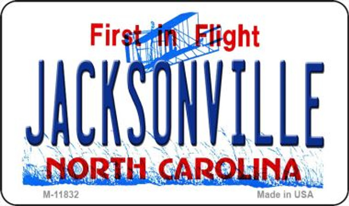 Jacksonville North Carolina Novelty Metal Magnet M-11832