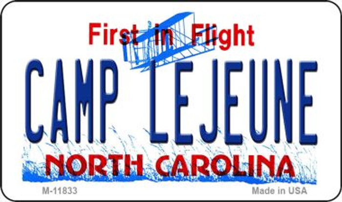 Camp Lejuene North Carolina Novelty Metal Magnet M-11833