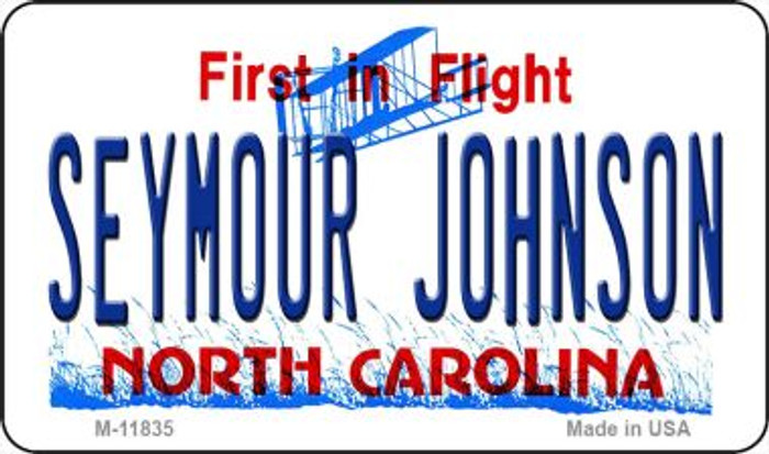Seymour Johnson North Carolina Novelty Metal Magnet M-11835