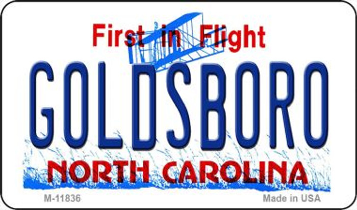 Goldsboro North Carolina Novelty Metal Magnet M-11836