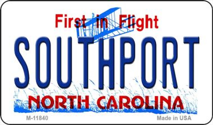 Southport North Carolina Novelty Metal Magnet M-11840