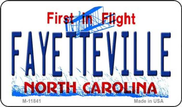 Fayetteville North Carolina Novelty Metal Magnet M-11841