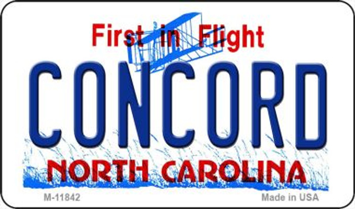 Concord North Carolina Novelty Metal Magnet M-11842
