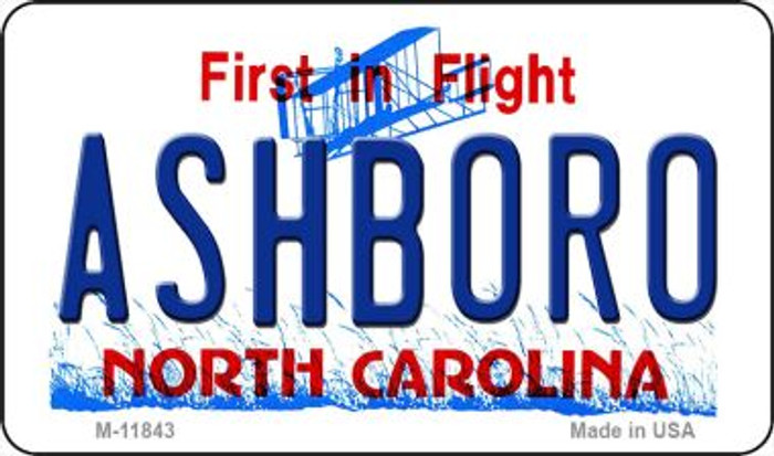 Ashboro North Carolina Novelty Metal Magnet M-11843