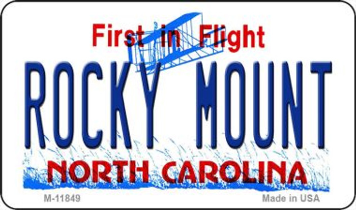 Rocky Mount North Carolina Novelty Metal Magnet M-11849