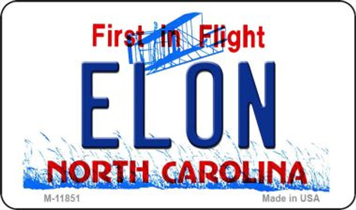 Elon North Carolina Novelty Metal Magnet M-11851