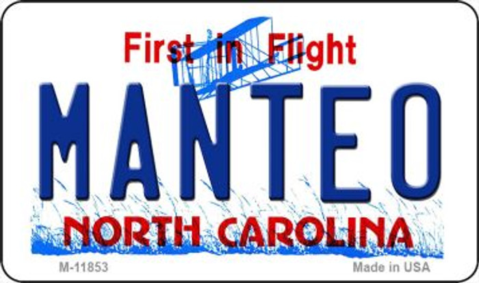 Manteo North Carolina Novelty Metal Magnet M-11853