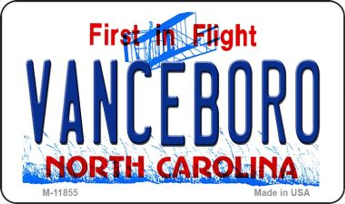 Vanceboro North Carolina Novelty Metal Magnet M-11855