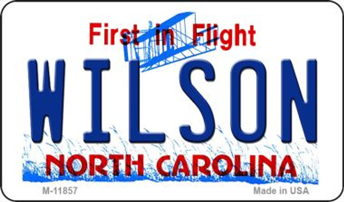 Wilson North Carolina Novelty Metal Magnet M-11857