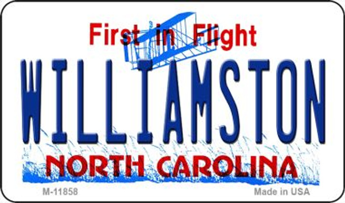 Williamston North Carolina Novelty Metal Magnet M-11858
