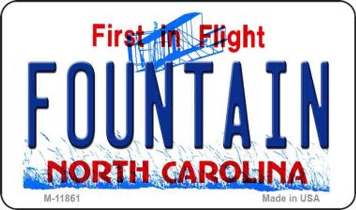 Fountain North Carolina Novelty Metal Magnet M-11861