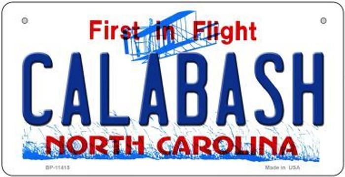 Calabash North Carolina Novelty Metal Bicycle Plate BP-11415