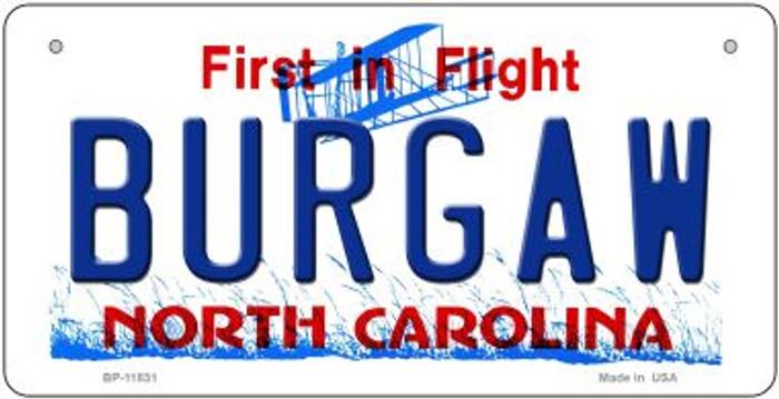 Burgaw North Carolina Novelty Metal Bicycle Plate BP-11831