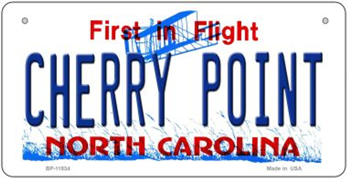 Cherry Point North Carolina Novelty Metal Bicycle Plate BP-11834
