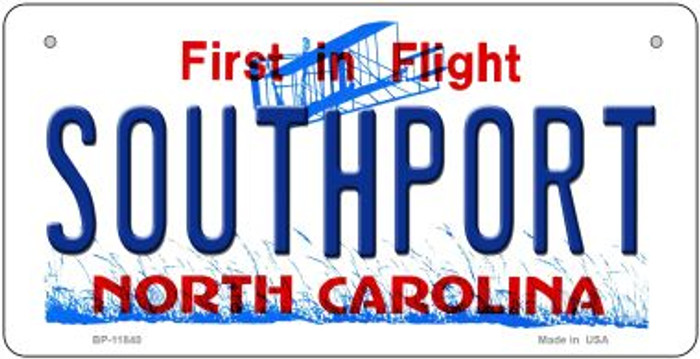 Southport North Carolina Novelty Metal Bicycle Plate BP-11840