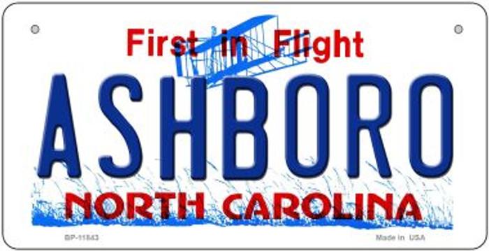 Ashboro North Carolina Novelty Metal Bicycle Plate BP-11843