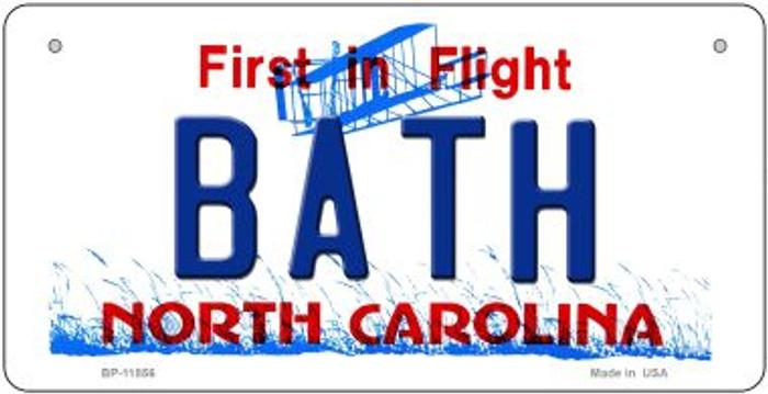Bath North Carolina Novelty Metal Bicycle Plate BP-11856